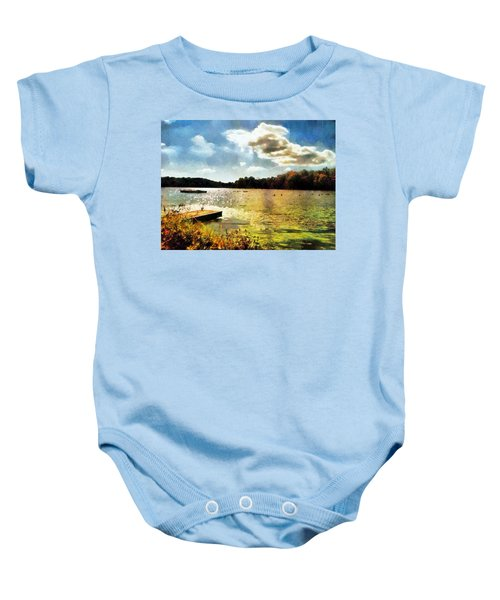 Mohegan Lake Gold Baby Onesie