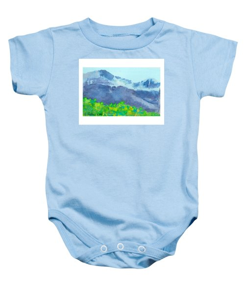 Montana Mountain Mist Baby Onesie