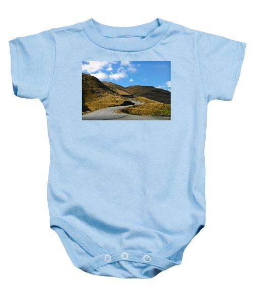 Mountain Pass Road Baby Onesie