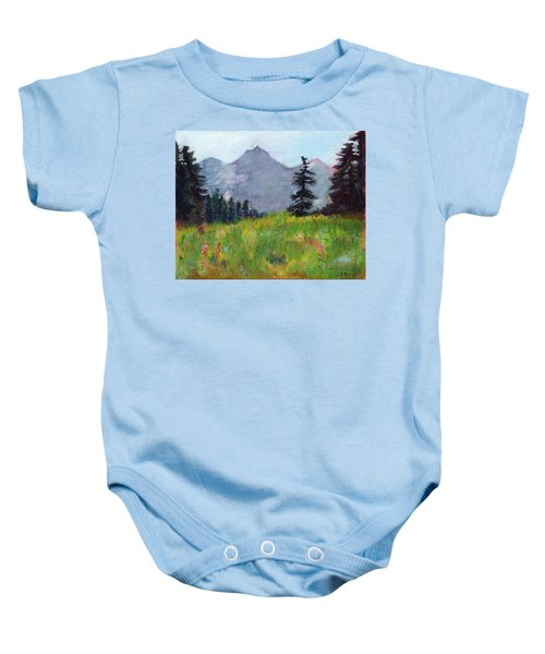 Mountain View Baby Onesie