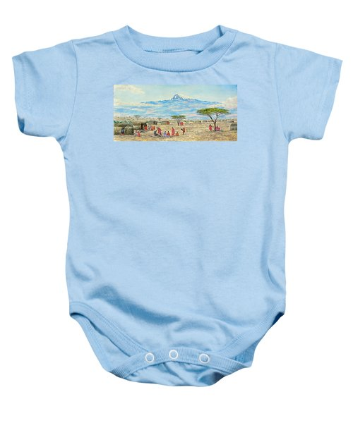 Mountain Village Baby Onesie