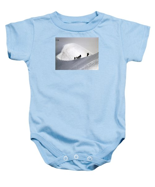 Mountaineers To Conquer Mont Blanc Baby Onesie