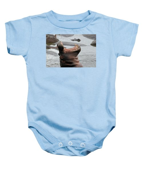 Mouth Wide Open Baby Onesie