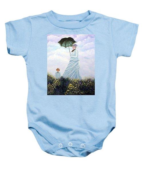 Mrs. Monet And Son Baby Onesie