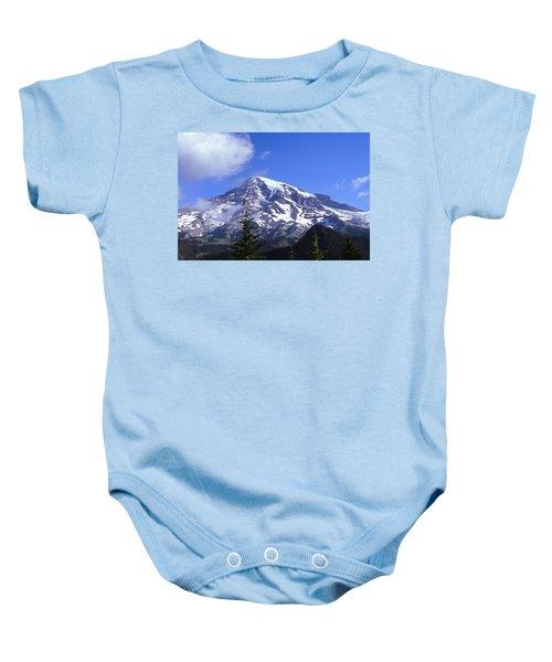 Mt. Rainier Baby Onesie