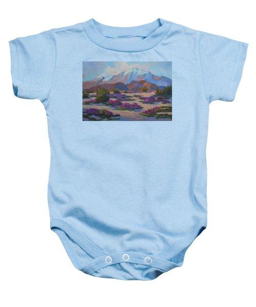 Mt. San Jacinto And Verbena Baby Onesie