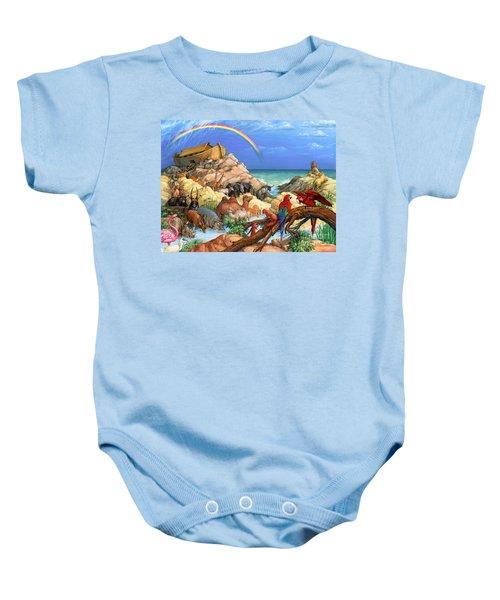 Noah And The Ark Baby Onesie