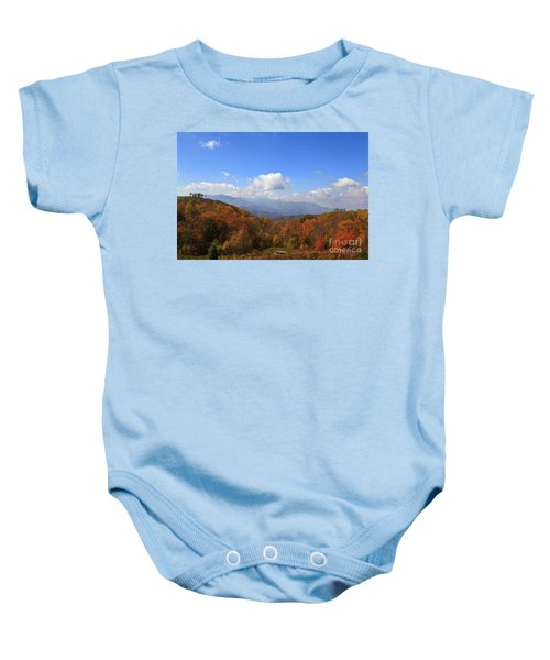 North Carolina Mountains In The Fall Baby Onesie