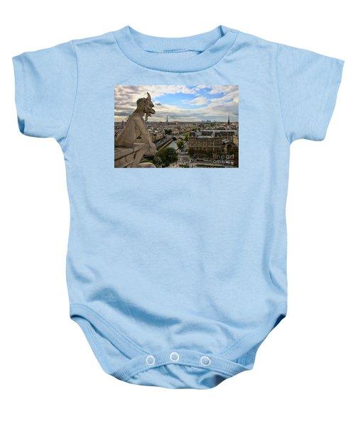 Notre Dame Gargoyle Baby Onesie