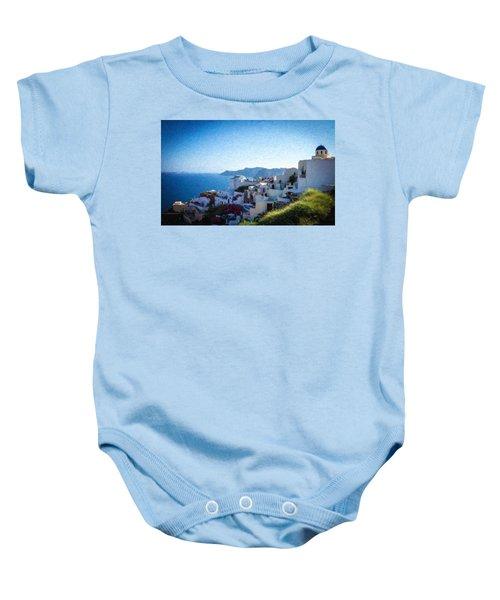 Oia Santorini Grk4332 Baby Onesie