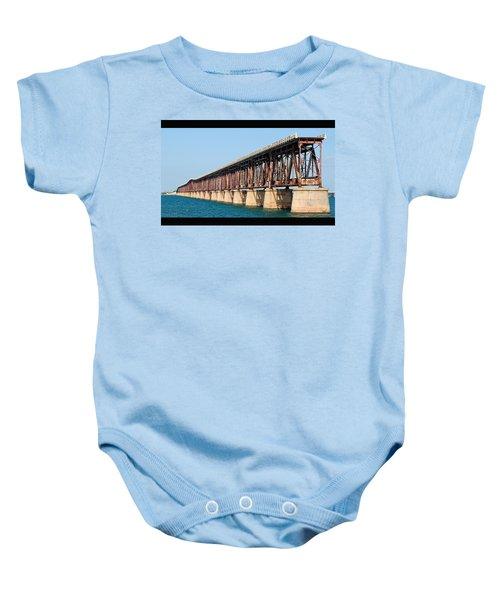 Old Bahia Honda Bridge 2 Baby Onesie