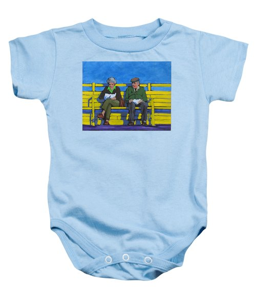 Old Couple Baby Onesie