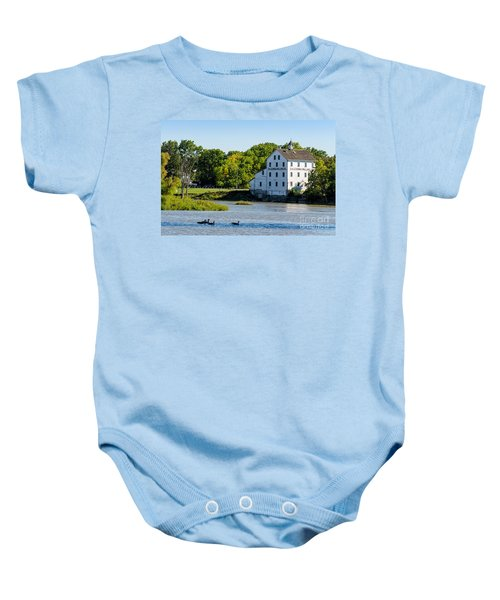 Old Mill On Grand River In Caledonia In Ontario Baby Onesie