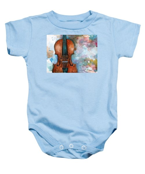 One Voice In The Cosmic Fugue Baby Onesie