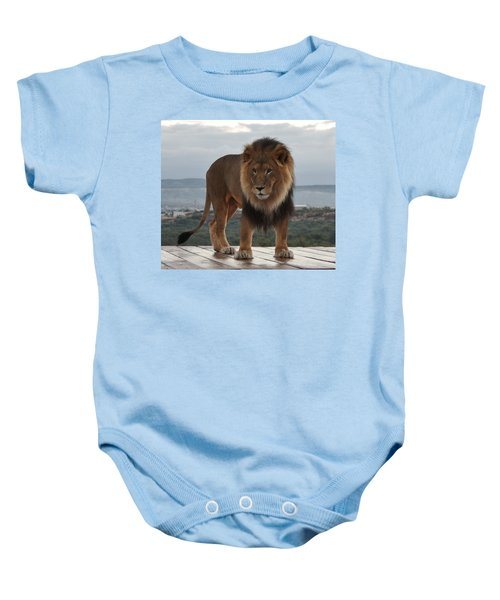 Out Of Africa Lion 3 Baby Onesie