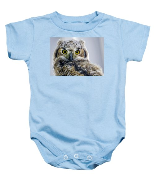Owlet Close-up Baby Onesie
