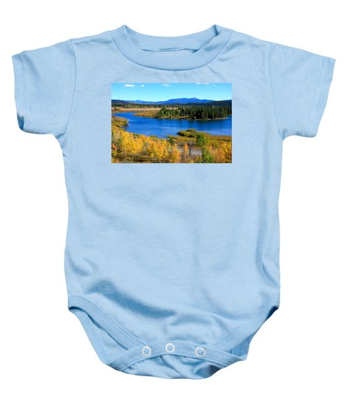 Oxbow Bend, Grand Teton National Park Baby Onesie