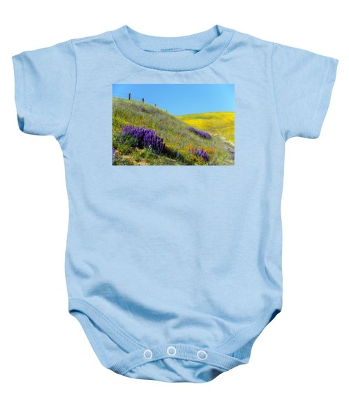 Painted With Wildflowers Baby Onesie