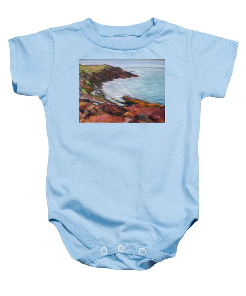 Painterly - Bold Seascape Baby Onesie