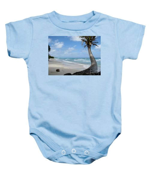 Palm Tree On The Beach Baby Onesie