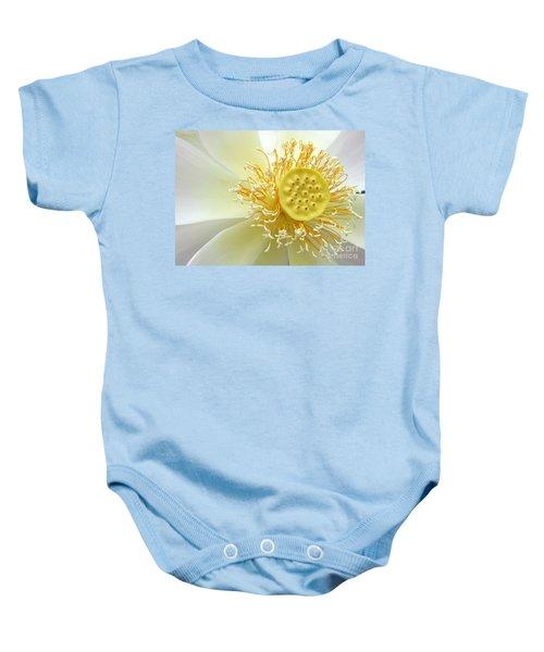 Pastel Lotus Baby Onesie