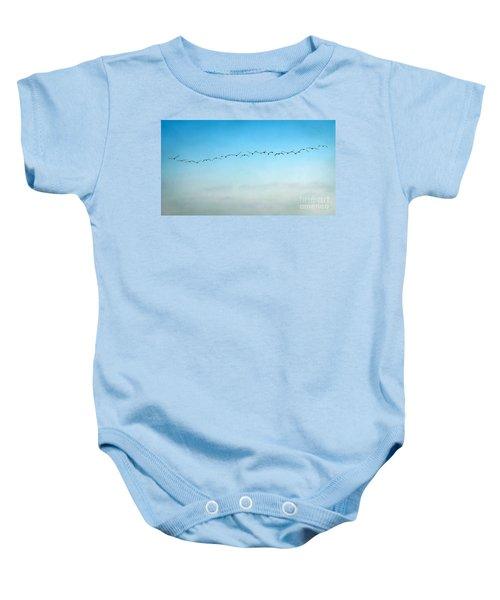 Pelican Flight Line Baby Onesie