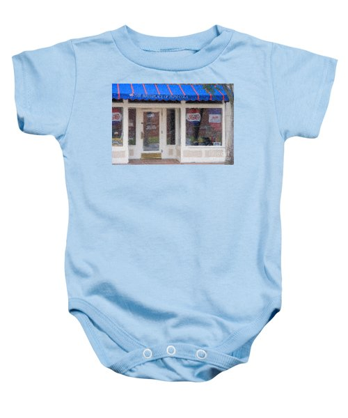Pepsi Cola Birthplace Watercolor Baby Onesie