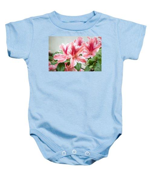 Pink Azaleas Baby Onesie