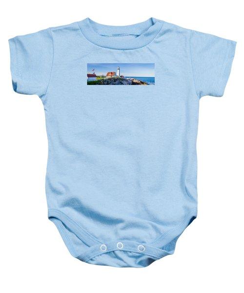 Portland Head Light House Cape Elizabeth Maine Baby Onesie