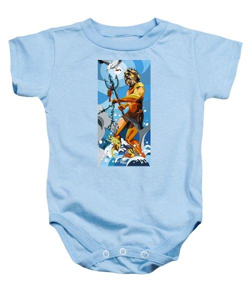 Poseidon - W/hidden Pictures Baby Onesie