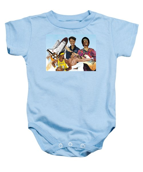 Jimi, Muhammad Ali, Wilt Chamberlain And Mae Carol Jemison Baby Onesie