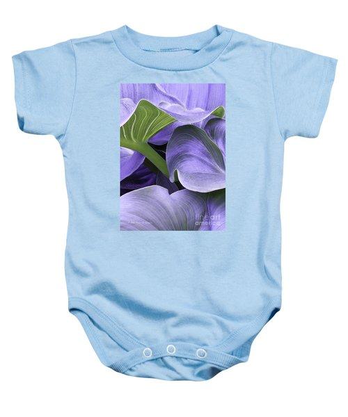 Purple Calla Lily Bush Baby Onesie