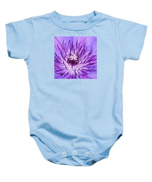Purple Clematis Baby Onesie