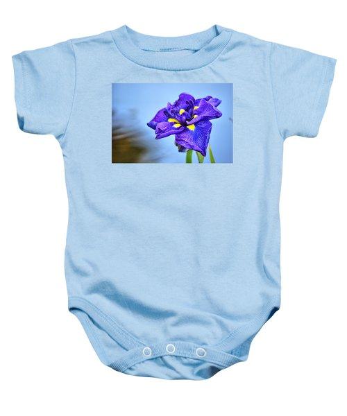 Purple Pond Iris Baby Onesie
