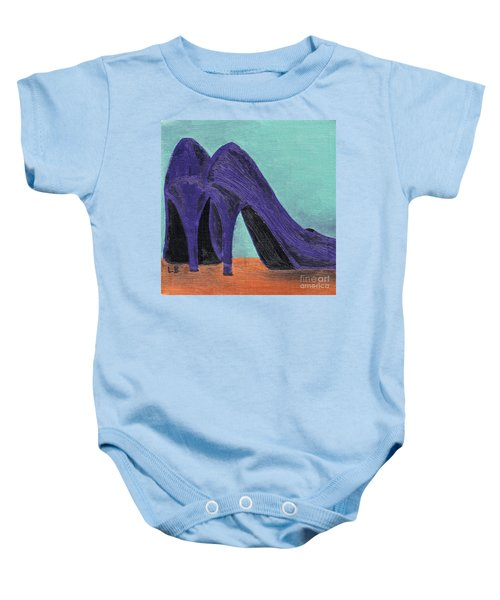 Purple Shoes Baby Onesie