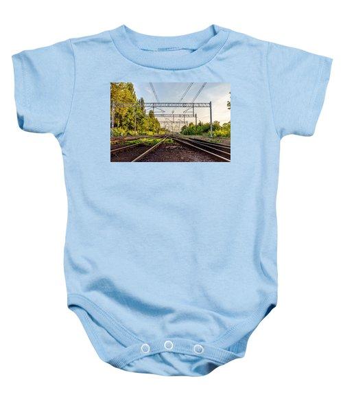 Railway To Nowhere Baby Onesie