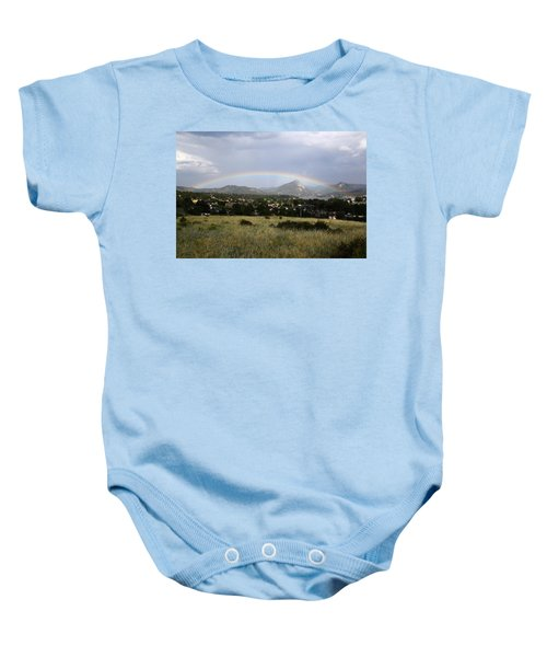 Rainbow Over Lake Estes Baby Onesie