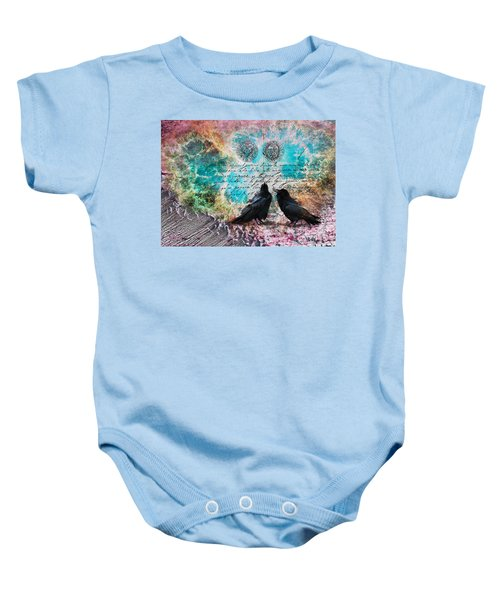 Crow Whispers In The Nowhere Baby Onesie