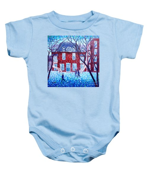 Red House In Montreal - Cityscape Baby Onesie