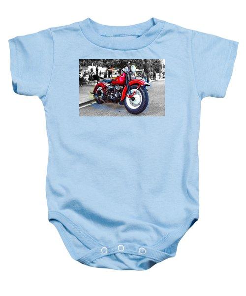 Red Rider On Black Baby Onesie