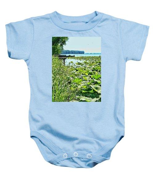 Reelfoot Lake Lilly Pads Baby Onesie