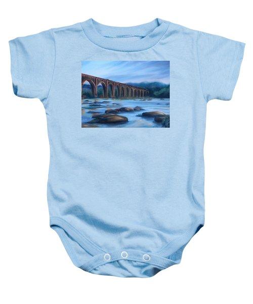 Richmond Train Trestle Baby Onesie