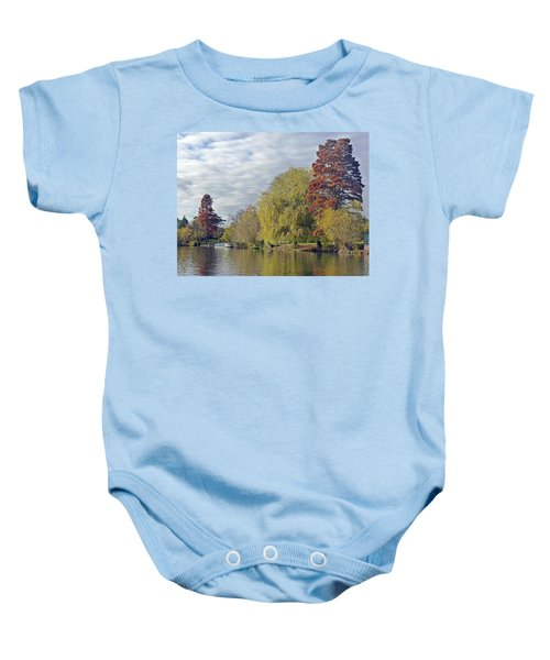 River Avon In Autumn Baby Onesie