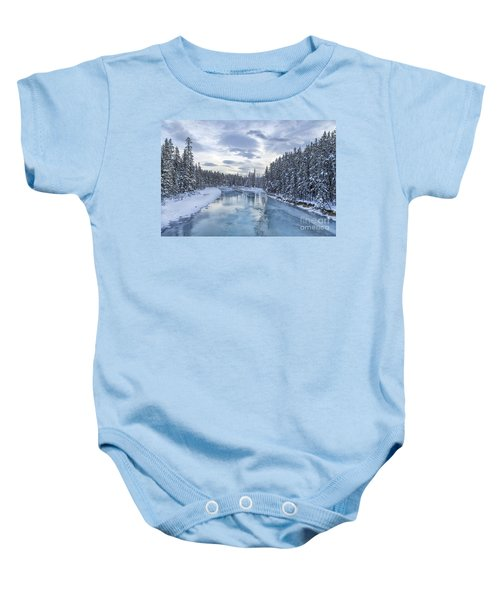 River Of Ice Baby Onesie