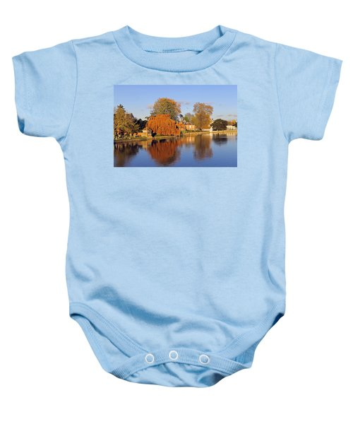 River Thames At Marlow Baby Onesie