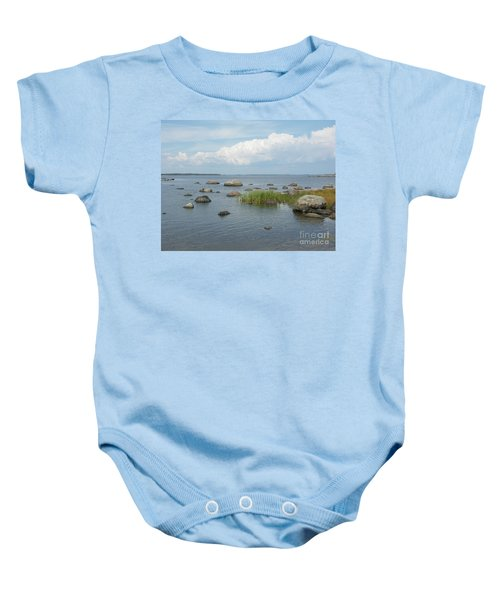 Rocks On The Baltic Sea Baby Onesie