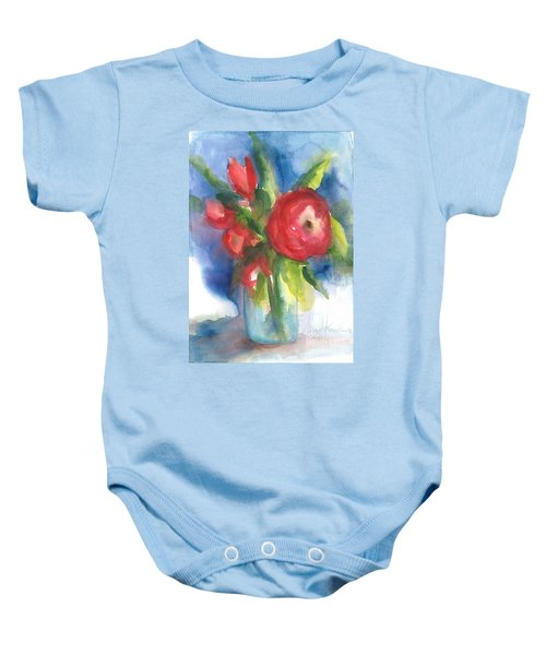 Rose Blooming Baby Onesie