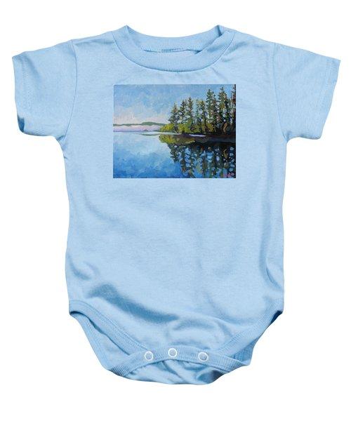 Round Lake Mirror Baby Onesie
