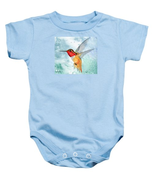 Da199 Rufous Humming Bird By Daniel Adams Baby Onesie