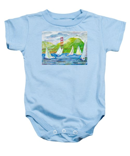 Sailboat Race At The Golden Gate Baby Onesie